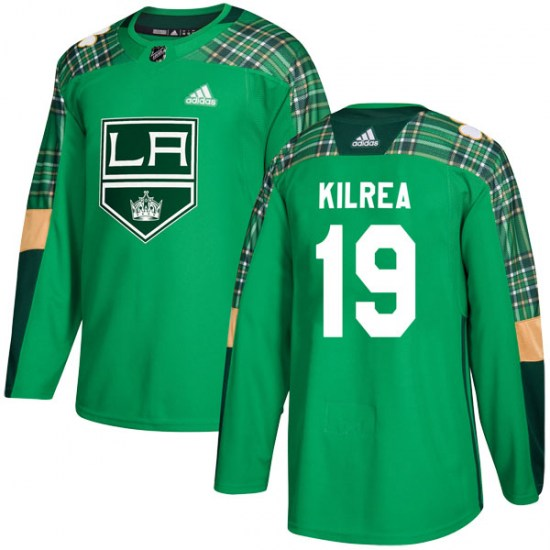 Brian Kilrea Los Angeles Kings Authentic St. Patrick's Day Practice Adidas Jersey - Green